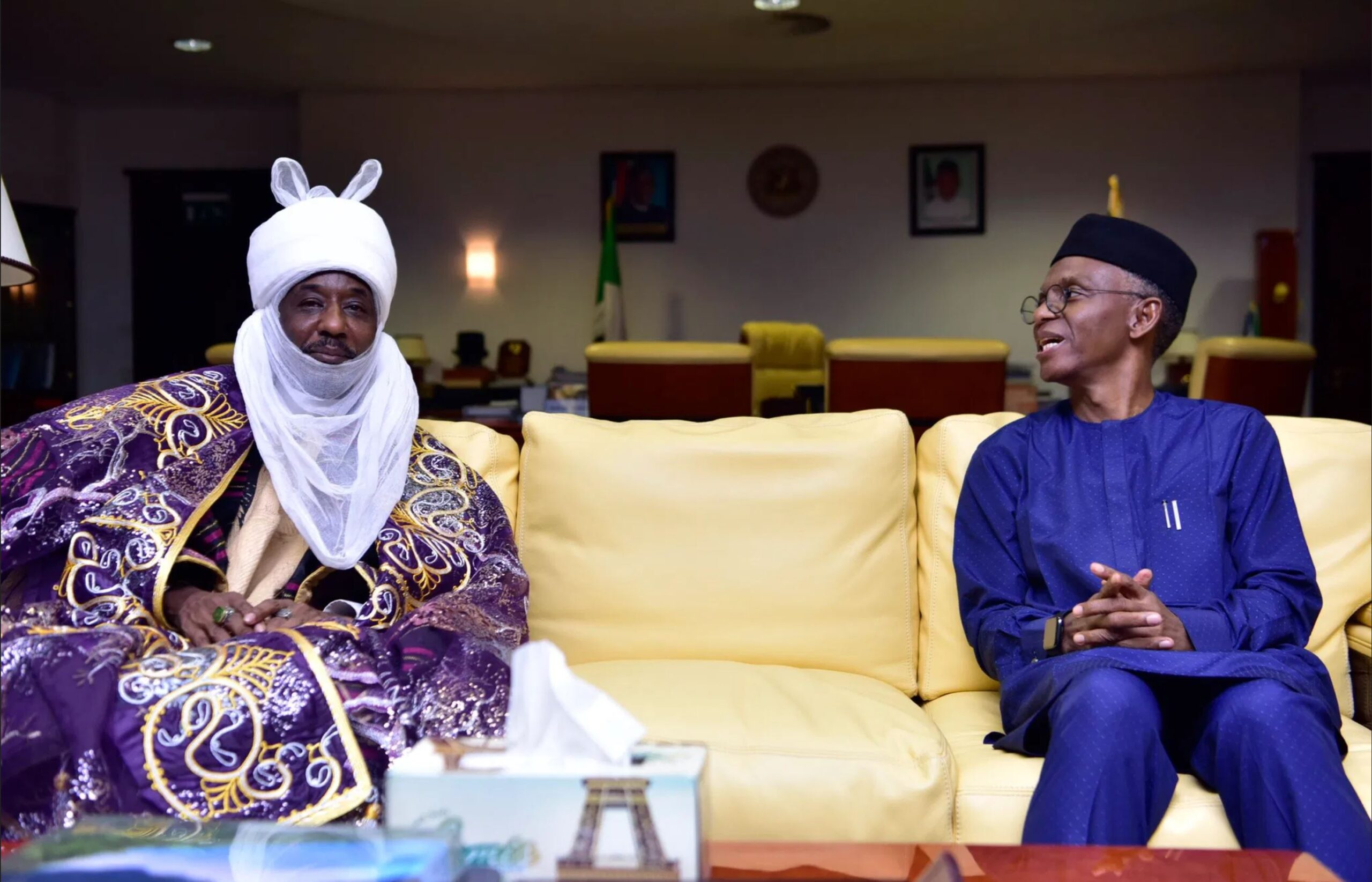 Deposed Kano Emir, Sanusi II arrives Kaduna on First Visit after Dethronement